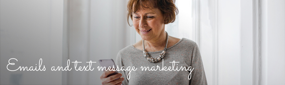 Email and SMS text message marketing for salons, spas and clinics